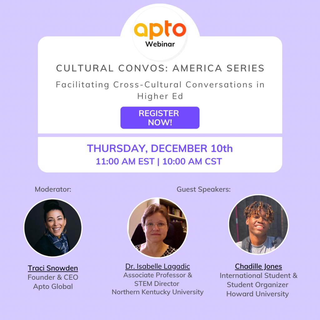 Cultural Convos: America Facilitating Cross-Cultural Conversations in Higher Ed